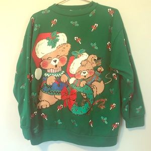 Vintage Christmas sweatshirt ugly sweater party